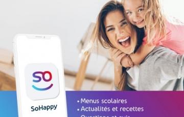 Application SoHappy - Les menus de la cantine scolaire