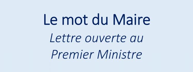 Lettre ouverte au Premier Ministre - situation des commerces